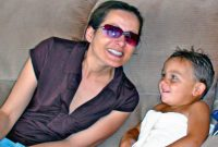 Shannon Perris-Knight with her son Ryder Gage in June 2009