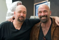 Kevin with his stunt double (production still by McMaster)